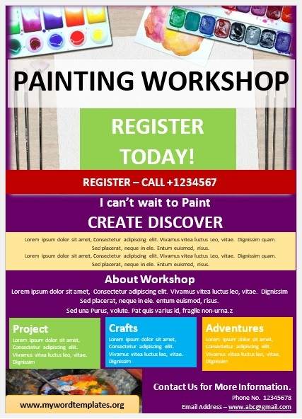 Painting Workshop Flyer Template 07