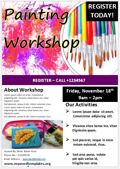 Painting Workshop Flyer Template 09