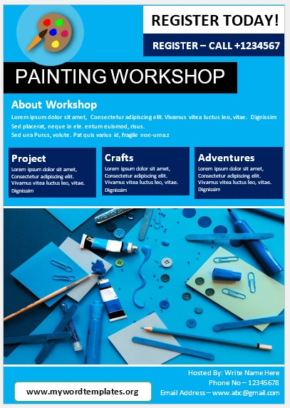 Painting Workshop Flyer Template 10