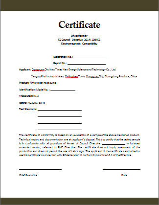 Conformity certificate template microsoft word templates for Certificate of compliance template