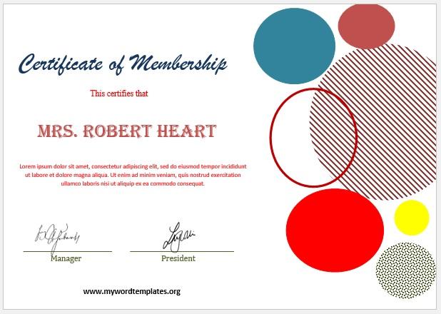 Membership Certificate Template 02