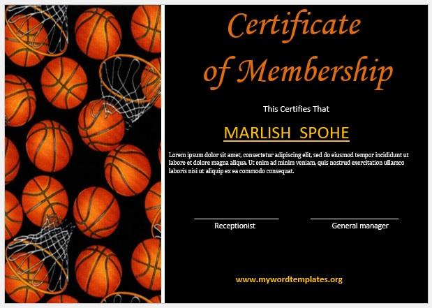 Membership Certificate Template 03