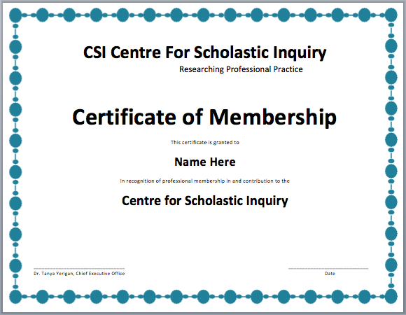 High Quality Membership Certificate Template Inside Life Membership Certificate Template