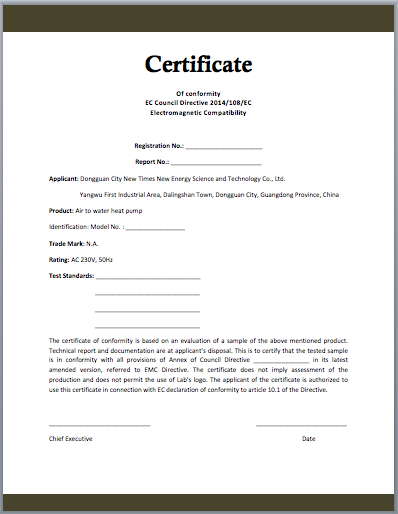 conformity certificate template microsoft word templates With certificate of manufacture template