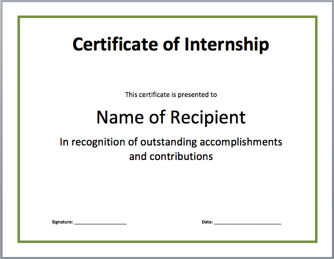 Search Results For Experience Certificate Internship