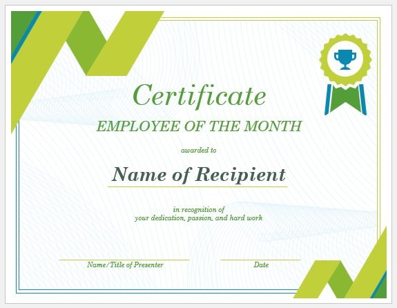 Employment Certificate Templates Microsoft Word Templates