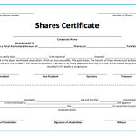 Stock Shares Certificate Template