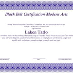 Martial Art Certificate Template