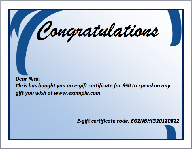 High Quality Congratulations Certificate Template