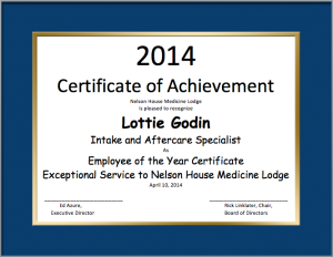 Employe of the Year Certificate Template