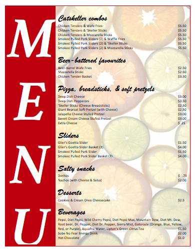 Menu Templates | Microsoft Word Templates