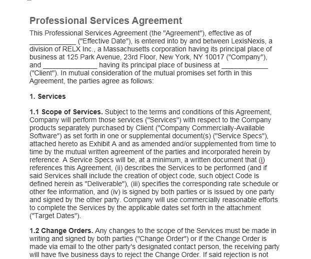 Service Agreement Template 07