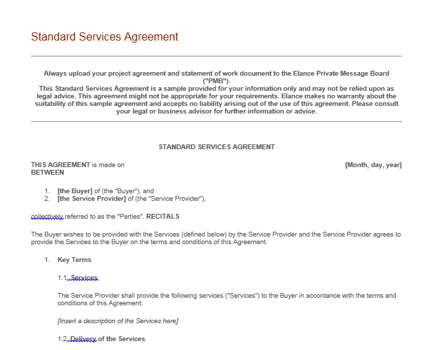 Service Agreement Template 09