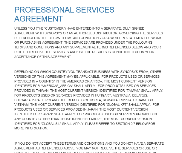 Professional Services Agreement Templates 24 Free Samples