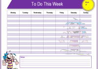 Weekly To Do List Template  Microsoft To Do List Template For Word