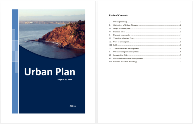Urban Plan Template
