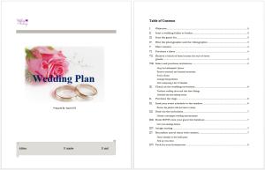 Wedding Plan Template