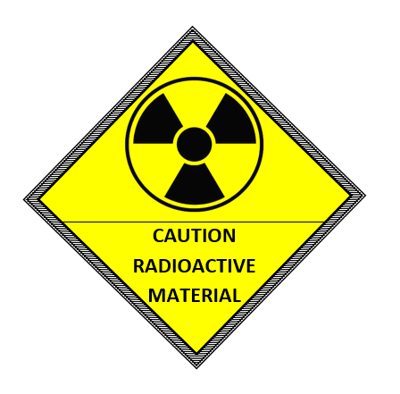 Caution Radioactive Material Label Template