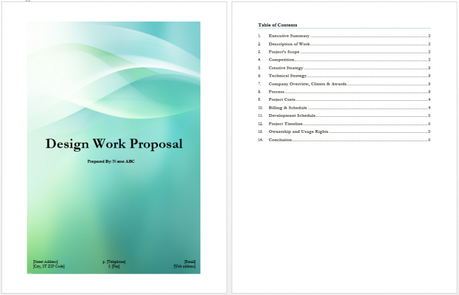 Design Work Proposal Template