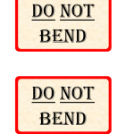 """Do Not Bend"" Label Template"