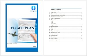Flight Plan Template