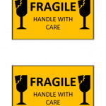 "Fragile ""Handle With Care"" Label Template"