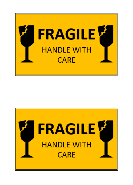 graphic about Printable Fragile Label known as Delicate \