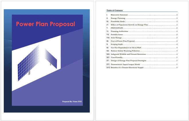 Power Plan Proposal Template