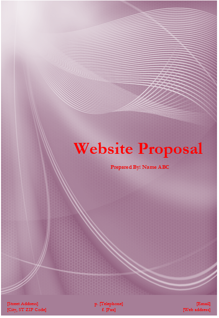 Website Proposal Template Microsoft Word Templates