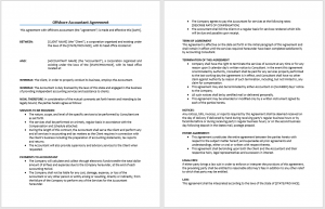 Offshore Accountant Agreement Template