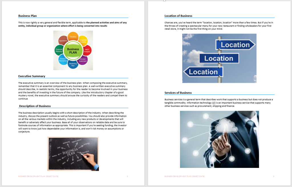 Business development plan template microsoft word templates business development plan friedricerecipe Image collections
