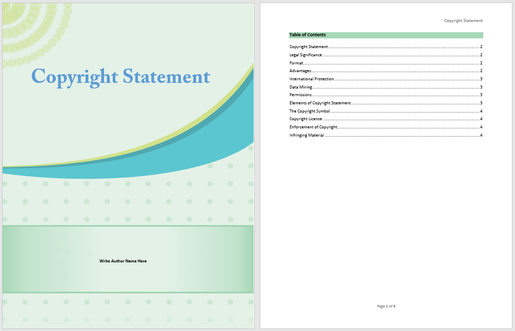 Copyright Statement Template - Microsoft Word Templates