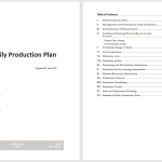 Daily Production Plan Template