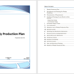 Weekly Production Plan Template