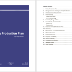 Yearly Production Plan Template