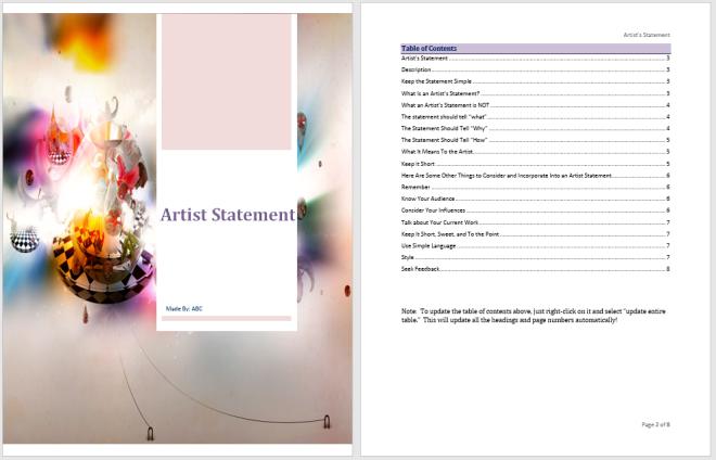 Artist Statement Template