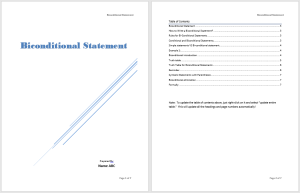 Biconditional Statement Template