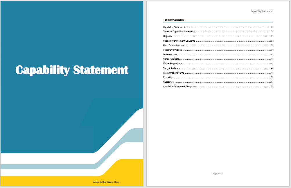 Capability Statement Template | Microsoft Word Templates
