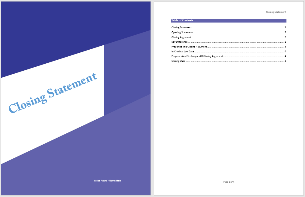 Closing Statement Template