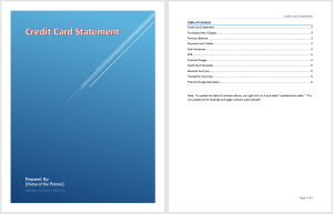 Credit Card Statement Template