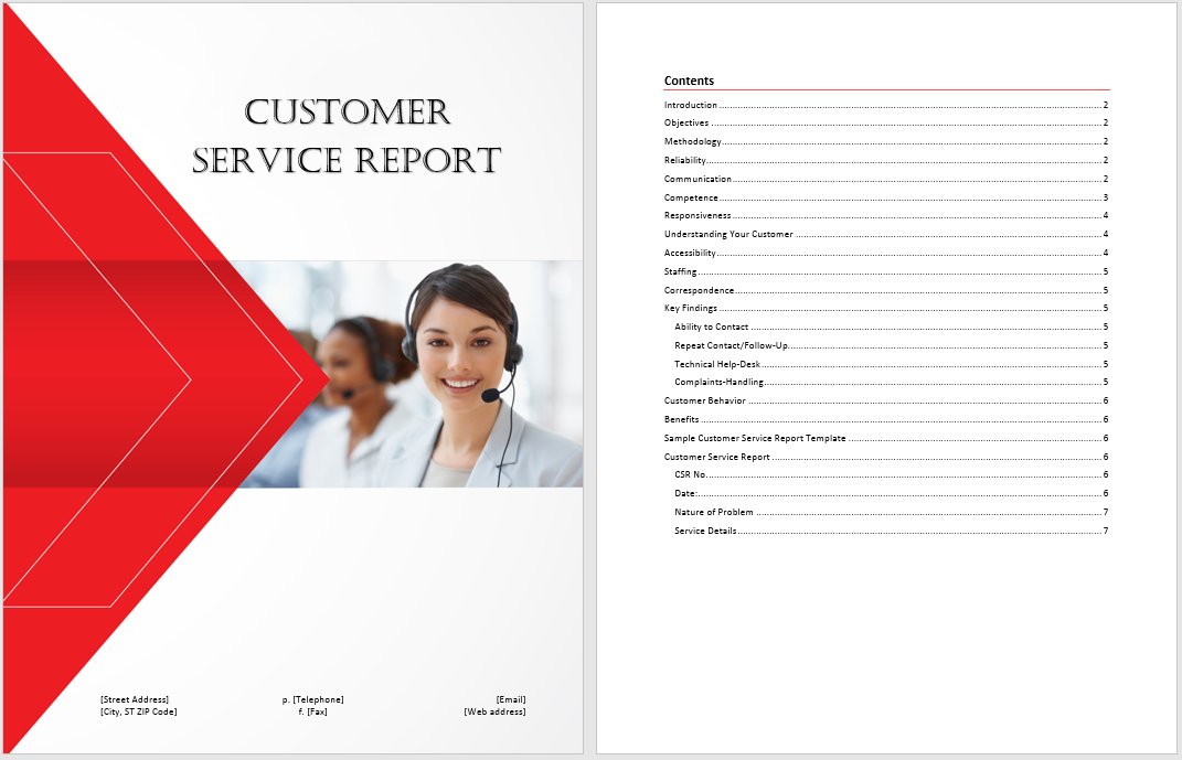 Customer Service Report Template  Microsoft Word Templates For Reports