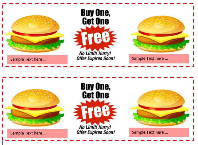 Buy 1 Get 1 Gift Certificate Template
