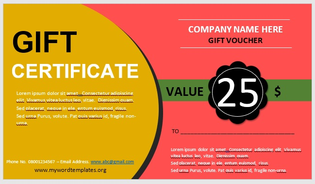 Free Gift Certificate Template 06