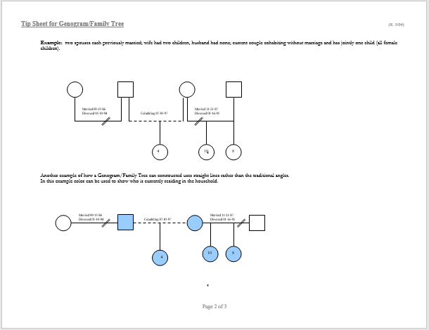Genogram Template 03