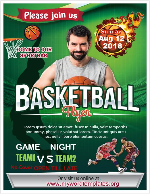 Basketball Flyer Template 01
