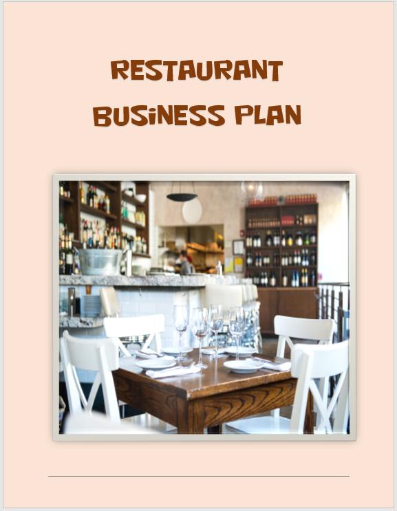 Restaurant Business Plan Template 01