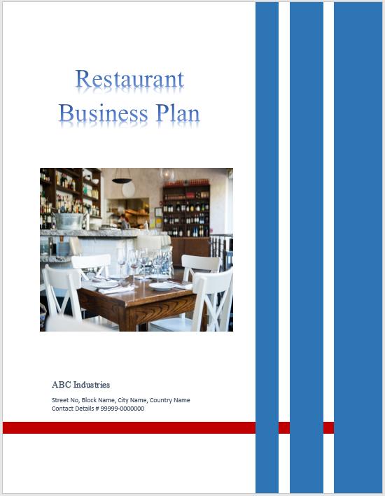 Restaurant Business Plan Template 04