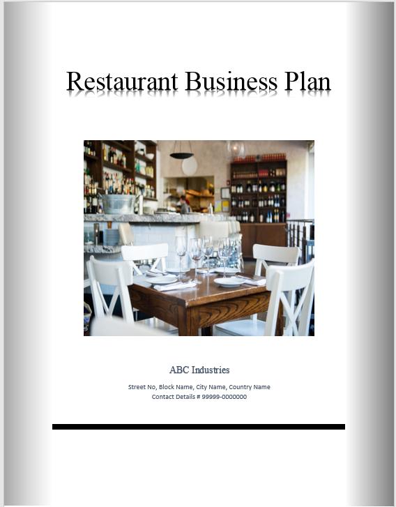 Restaurant Business Plan Template 05