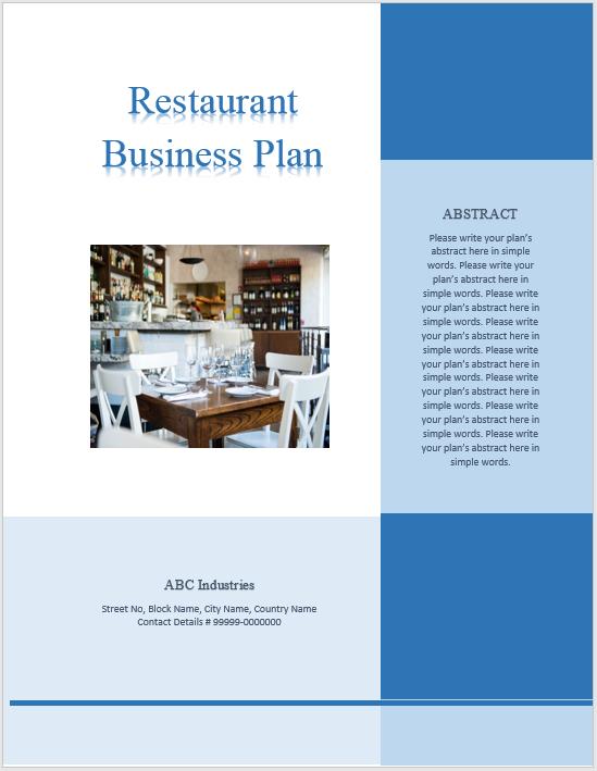 Restaurant Business Plan Template 06