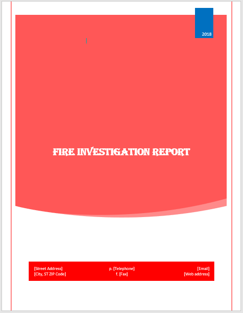 Fire Investigation Report Template